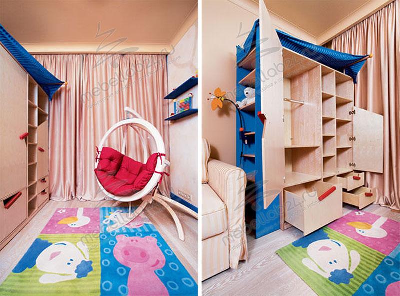 Уникальный дизайн-проект комнаты для новорожденного.